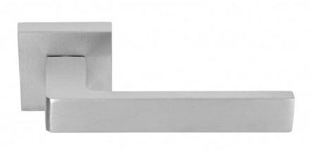 Frascio 1540/50Q/SCP Ice Q Door Handle On Square Rose Satin Chrome
